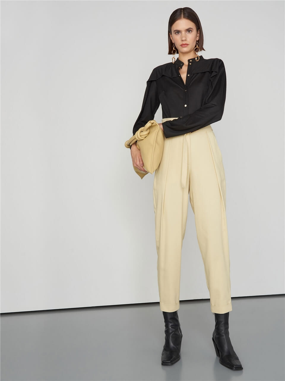 BEIGE HIGH WAIST PANTS
